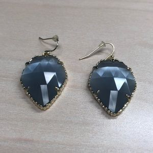 Blue/clear earrings